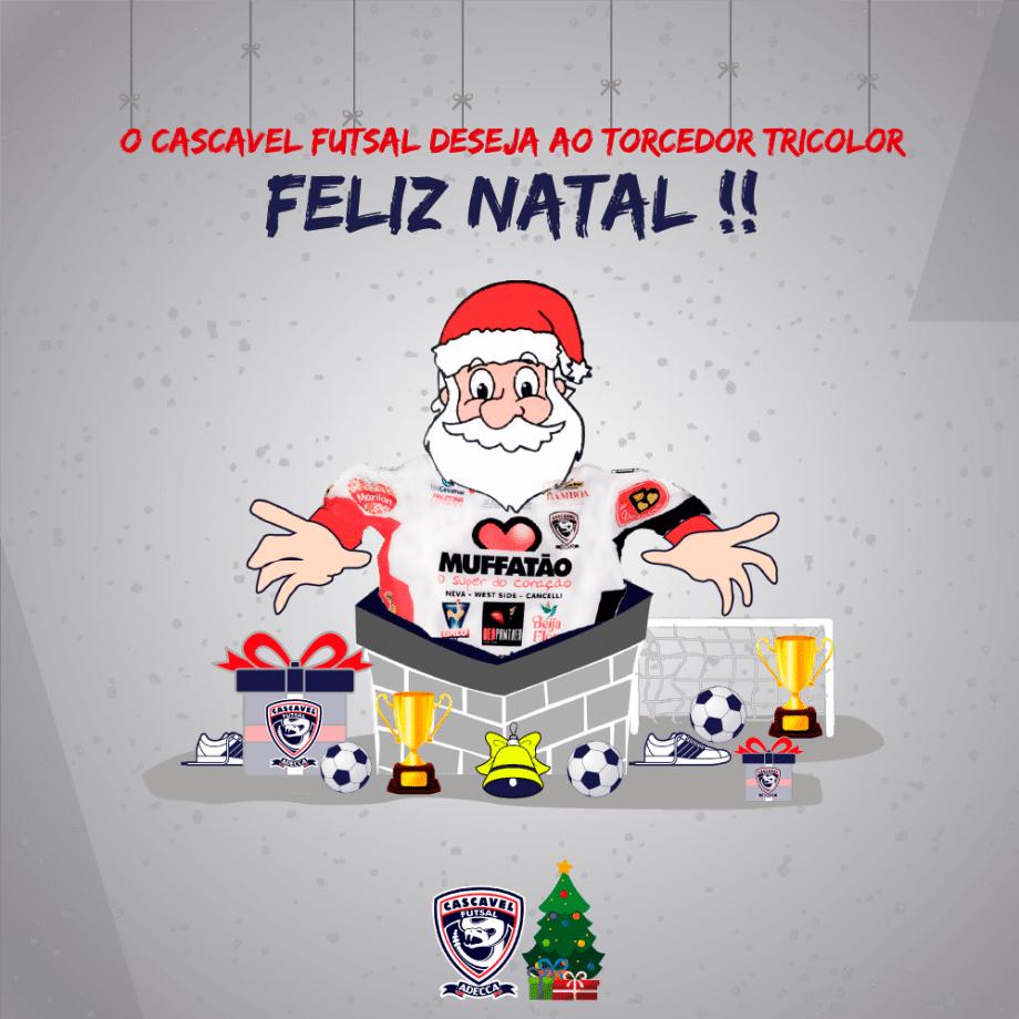 O Cascavel Futsal deseja um Feliz Natal a todos
