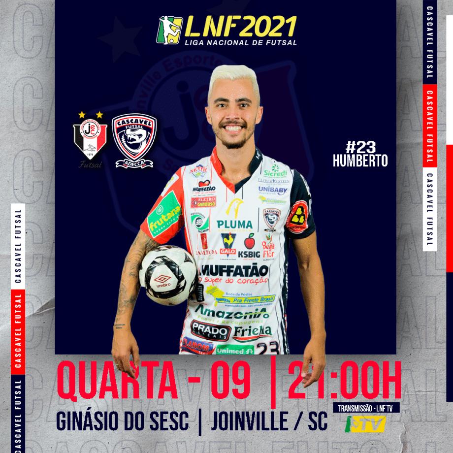 Cascavel Futsal viaja até Santa Catarina para encarar o Joinville
